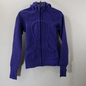 Lululemon Athletica Blue Zip Up Hooded Jacket